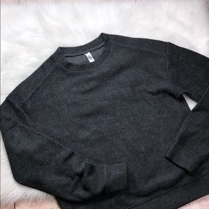 ALO YOGA CHARCOAL PULLOVER M